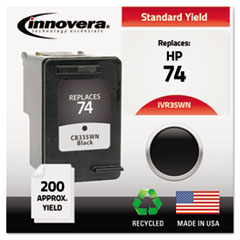 IVR35WN - Innovera Remanufactured CB335WN (74) Ink, 200 Page-Yield, Black