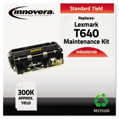 IVR40X0100 - Innovera Remanufactured 40X0100 (T640) Maintenance Kit, 300000 Page-Yield