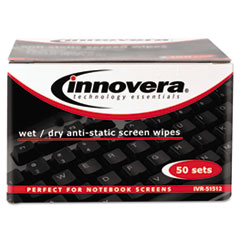 IVR51512 - Innovera® Antistatic Wet-Dry wipes