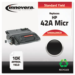 IVR5942MICR - Innovera Remanufactured Q5942A(M) MICR Toner, 10000 Yield, Black