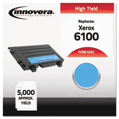 IVR6100C - Innovera 6100C Remanufactured, 106R00680 (Phaser 6100) Toner, 5000 Yield, Cyan