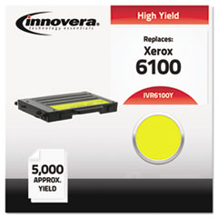 IVR6100Y - Innovera 6100Y Remanufactured, 106R00682 (Phaser 6100) Toner, 5000 Yield, Yellow