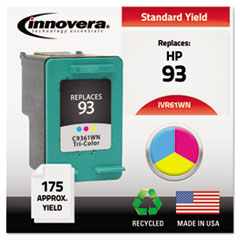IVR61WN - Innovera Remanufactured C9361WN (93) Ink, 175 Page-Yield, Tri-Color