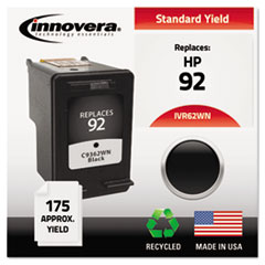 IVR62WN - Innovera Remanufactured C9362WN (92) Ink, 175 Page-Yield, Black