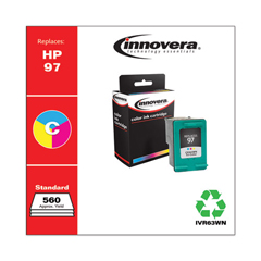 IVR63WN - Innovera Remanufactured C9363WN (97) Ink, 560 Page-Yield, Tri-Color