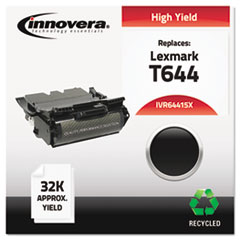 IVR64415X - Innovera Remanufactured 64415XA (T644) Toner, 32000 Yield, Black