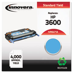 IVR6471A - Innovera Remanufactured Q6471A (502A) Laser Toner, 4000 Yield, Cyan