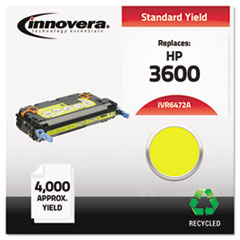 IVR6472A - Innovera Remanufactured Q6472A (502A) Laser Toner, 4000 Yield, Yellow