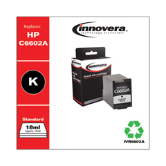 IVR6602A - Innovera Remanufactured C6602A Ink, 500 Page-Yield, Black