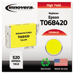 IVR68420 - Innovera Remanufactured High-Yield T068420 (68) Ink, 520 Page-Yield, Yellow