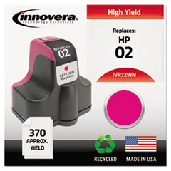 IVR72WN - Innovera Remanufactured C8772WN (02) Ink, 370 Page-Yield, Magenta