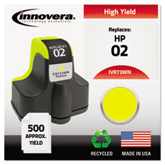 IVR73WN - Innovera Remanufactured C8773WN (02) Ink, 500 Page-Yield, Yellow