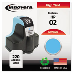 IVR74WN - Innovera Remanufactured C8774WN (02) Ink, 240 Page-Yield, Light Cyan