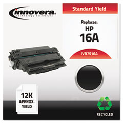 IVR7516A - Innovera Remanufactured Q7516A (16A) Laser Toner, 12000 Yield, Black