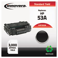 IVR7553A - Innovera Remanufactured Q7553A (53A) Laser Toner, 3000 Yield, Black