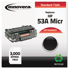 IVR7553MICR - Innovera Remanufactured Q7553A(M) MICR Toner, 3000 Yield, Black