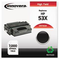 IVR7553X - Innovera Remanufactured Q7553X (53X) Laser Toner, 7000 Yield, Black