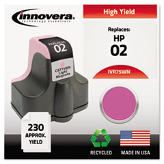IVR75WN - Innovera Remanufactured C8775WN (02) Ink, 240 Page-Yield, Light Magenta