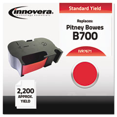 IVR7671 - Innovera 7671 Compatible, Remanufactured, 767-1 Postage Meter,  2200 Page-Yield, Red