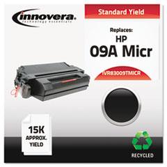 IVR83009TMICR - Innovera® 83009TMICR Compatible Remanufactured MICR Toner, 12600 Page-Yield, Black