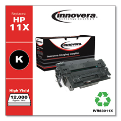 IVR83011X - Innovera Remanufactured Q6511X (11X) High Yield Laser Toner, 12000 Yield, Black