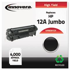 IVR83012X - Innovera Remanufactured Q2612X (12J) Laser Toner, 4000 Yield, Black