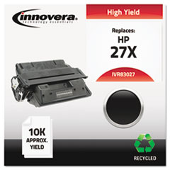 IVR83027 - Innovera Remanufactured C4127X (27X) Laser Toner, 10000 Yield, Black