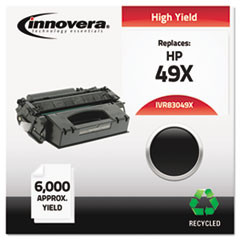 IVR83049X - Innovera Remanufactured Q5949X (49X) Laser Toner, 6000 Yield, Black