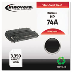 IVR83074 - Innovera Remanufactured 92274A (74A) Laser Toner, 3350 Yield, Black