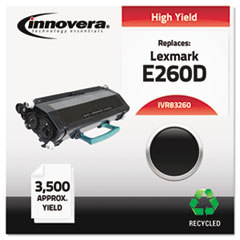 IVR83260 - Innovera Remanufactured E260A21A (E60D) Toner, 3500 Yield, Black