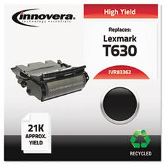 IVR83362 - Innovera Remanufactured 12A7362 (T63X) Toner, 21000 Yield, Black