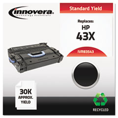 IVR83543 - Innovera Remanufactured C8543X (43X) Laser Toner, 30000 Yield, Black