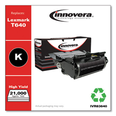 IVR83640 - Innovera Remanufactured 64015HA (T640) Toner, 21000 Yield, Black