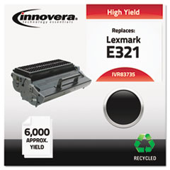 IVR83735 - Innovera Remanufactured 12A7305 (E321) Toner, 6000 Yield, Black