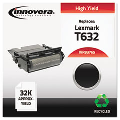 IVR83765 - Innovera Remanufactured 12A7465 (T632) Toner, 32000 Yield, Black