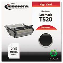 IVR83835 - Innovera Remanufactured 12A6835 (T520) Toner, 20000 Yield, Black
