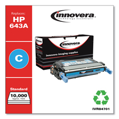 IVR84701 - Innovera Remanufactured Q5951A (643A) Laser Toner, 10000 Yield, Cyan