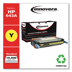 IVR84702 - Innovera Remanufactured Q5952A (643A) Laser Toner, 10000 Yield, Yellow