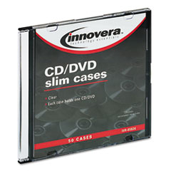 IVR85826 - Innovera® CD/DVD Polystyrene Thin Line Storage Case