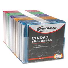 IVR85850 - Innovera® CD/DVD Polystyrene Thin Line Storage Case