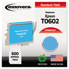 IVR860220 - Innovera Remanufactured T060220 Ink, 600 Page-Yield, Cyan