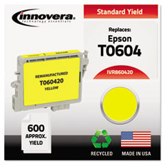 IVR860420 - Innovera Remanufactured T060420 Ink, 600 Page-Yield, Yellow