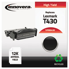 IVR86430 - Innovera Remanufactured 12A8325 (T430) Toner, 12000 Yield, Black