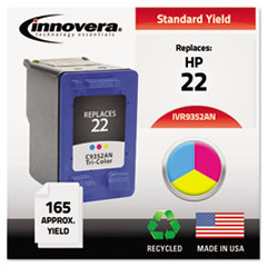 IVR9352AN - Innovera Remanufactured C9352AN (22) Ink, 165 Page-Yield, Tri-Color