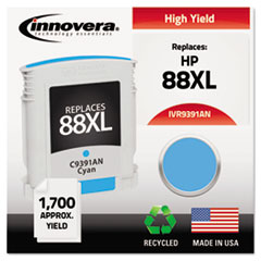 IVR9391AN - Innovera Remanufactured C9391AN (88XL) Ink, 1700 Page-Yield, Cyan