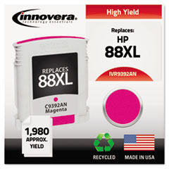 IVR9392AN - Innovera Remanufactured C9392AN (88XL) Ink, 1980 Page-Yield, Magenta