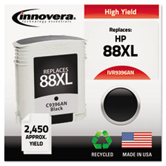 IVR9396AN - Innovera Remanufactured C9396AN (88XL) Ink, 2450 Page-Yield, Black