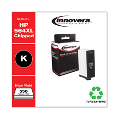 IVRB321WNC - Innovera Remanufactured High-Yield CB321WN (564XL) Ink, 550 Page-Yield, Black