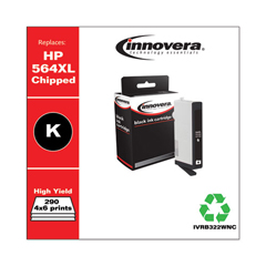 IVRB322WNC - Innovera Remanufactured High-Yield CB322WN (564XL) Ink, 290 Page-Yield, Photo Black