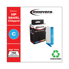 IVRB323WNC - Innovera Remanufactured High-Yield CB323WN (564XL) Ink, 750 Page-Yield, Cyan